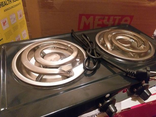 Двухконфорочная электрическая плита Мечта спираловая печь электроплита