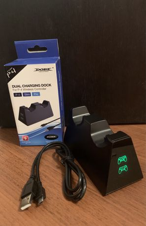 Зарядная станция для джойстиков контроллера PS4 Pro/Slim