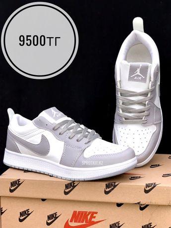 Кеды Nike Jordan низк бел сер