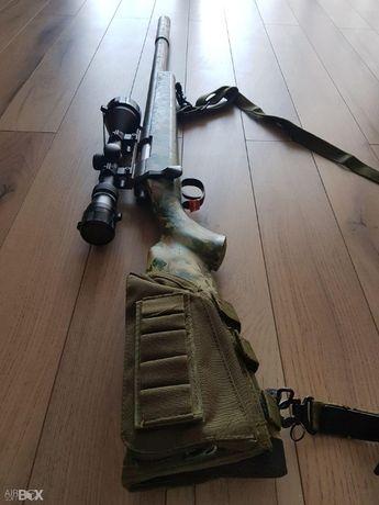 Pusca Mare ~CU LUNETA~ ASG - Arc Schimbat + Munitie Airsoft 4j Pistol