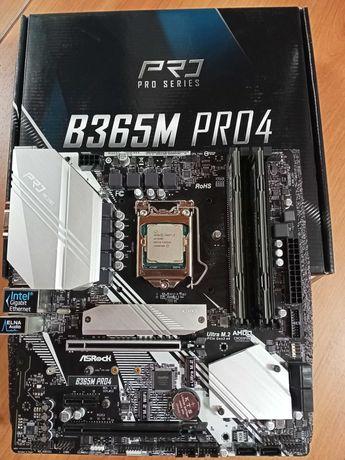 ASRock B365M Pro4;  i3 9100F; 16Gb DDR-4
