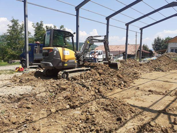 Lucrari cu miniexcavator 4 tone (mini excavator - buldo)