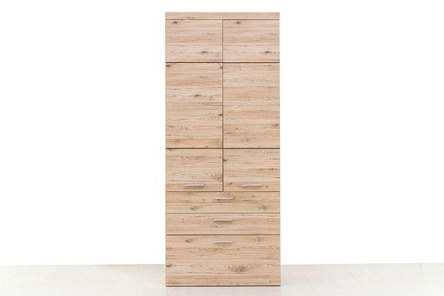 Шкаф для одежды 2Д  (Oskar 2D3S), коллекции Оскар, Дуб Санремо, Анрэкс