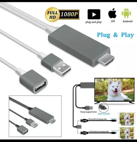 MHL Hdmi адаптер для подключения смартфона/планшета к телевизору