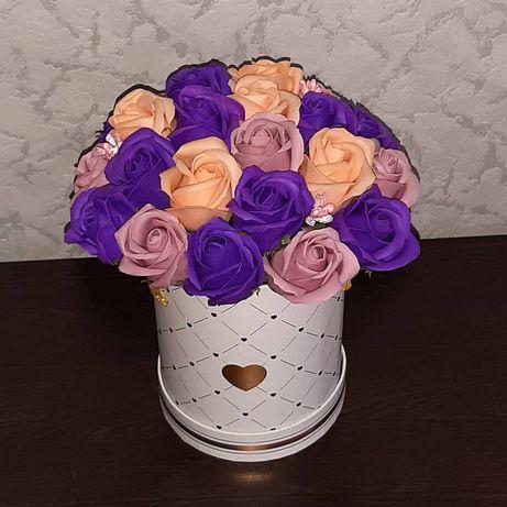 Цветы. Букеты из мыльных роз