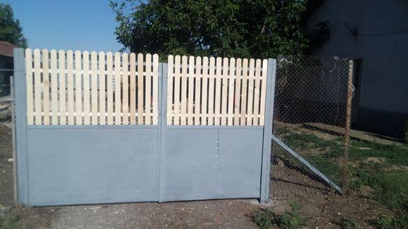 Дървени оградни пана