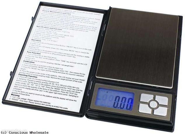 Cantar de precizie Notebook , 0.01gr - 500gr , nou , baterii incluse