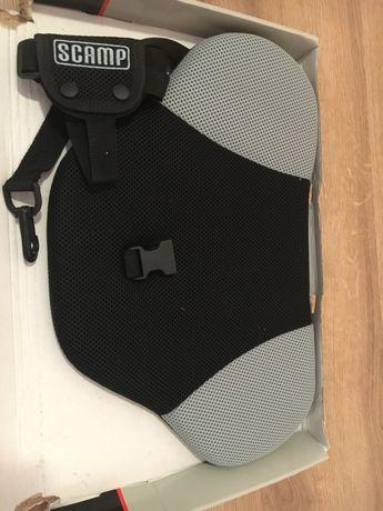 Deviator centura de siguranta Scamp pentru gravide, negru-gri nou