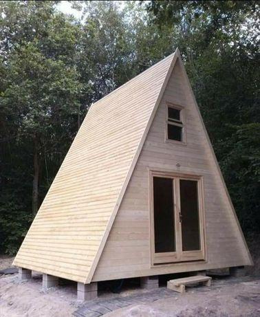 Casuta stil A pe structura din lemn !