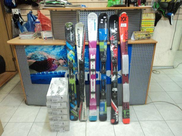 Новые горные лыжи для детей ELAN, 110 и 120 см, ассорти в моделях