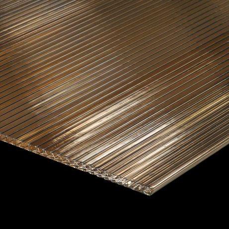 Placa policarbonat clar, 2.1 x 6 m, grosime de 6 mm - 2 buc