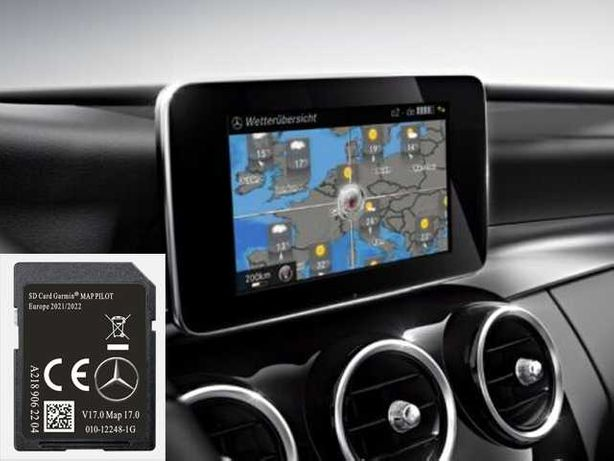 Card navigatie Mercedes A B C CLA E GLC GLE GLS Europa V17.0 2021