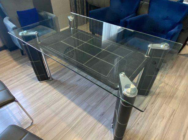 Стол обеденный, стеклянный.