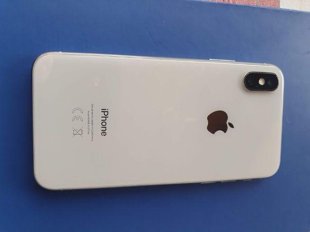Iphone X 256 Gb silver cu CASCO ca nou, in perfecta stare, cu folie