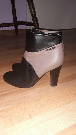 Боти с ток MatStar , черни обувки с ток