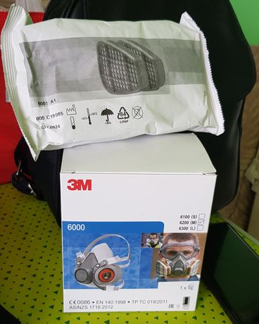 Masca 3M + filtre 3M , masca 6200 filtrele 6051 carbon