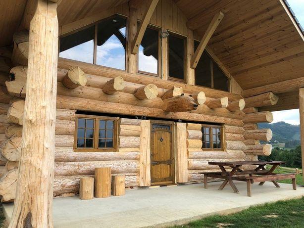 case cabane din lemn rotund necalibrat