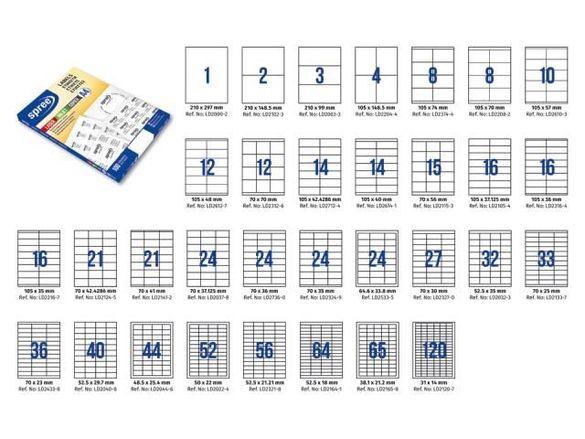 Етикети А4, бели, кутия със 100 листа