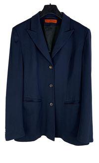Sacou dama designer IRIS Von Arnim mărimea L albastru lâna xa9