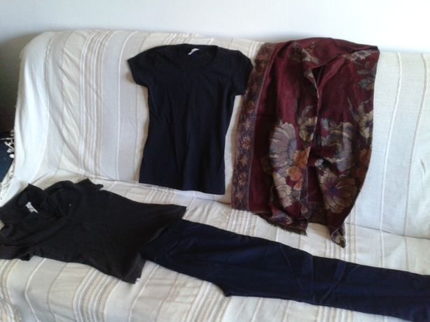 lot haine dama second hand Zara, tricou Tommy Hilfiger mar S
