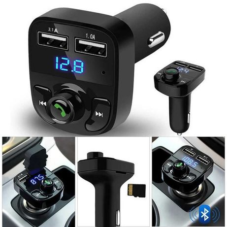 FM Трансмитер X8 - Bluetooth, USB, FM аудио предавател, MP3 плейър