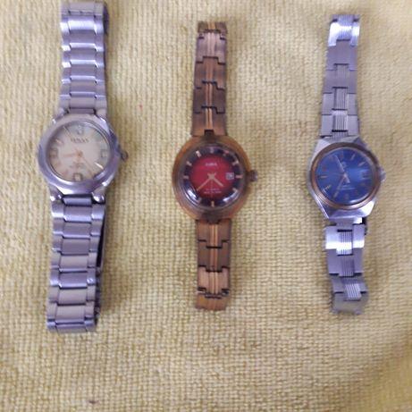 Часы с браслетом механические Сделаны в СССР