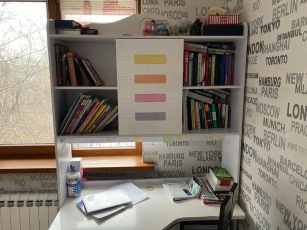 Большой, письменный, многофункциональный стол для детской