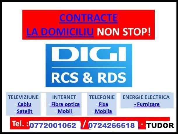 Contracte Digi la domiciliu,internet,cablu Tv,non stop(rcs,rds)