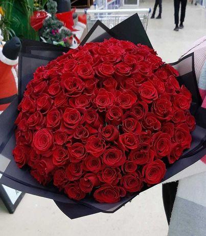 Розы Голландия цветы букеты Костанай Доставка подарки