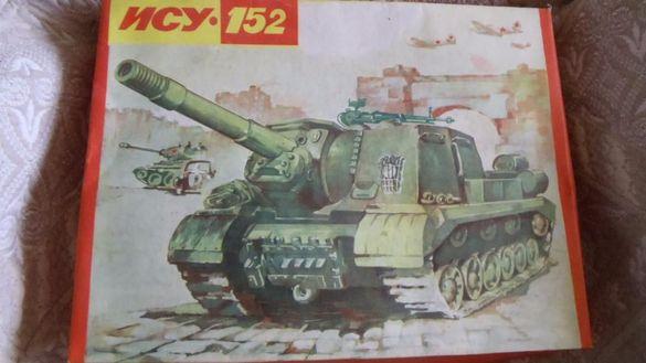 Макет на танк ИСУ 152 модел копие 1:30