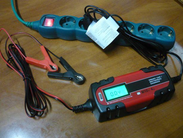 Redresor auto moto, baterie 12V-6V, inteligent, display NOU garanție