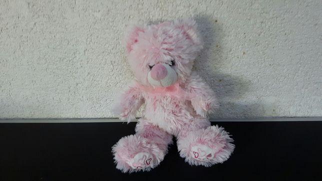 Jucarie - plus - ursulet - urs - roz - fete - fetite - cadou - 30 cm