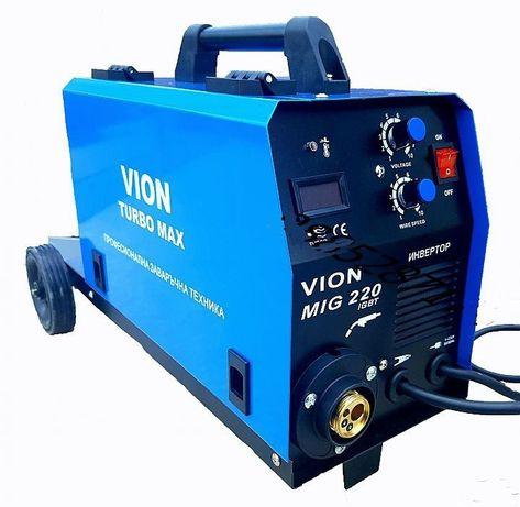 Професионален заваръчен апарат MIG 220А -Телоподаващо - 4м евро шланг