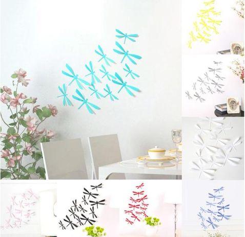 Разпродажба! Стикери за стена 3D водни кончета 12 бр. - различни цвето