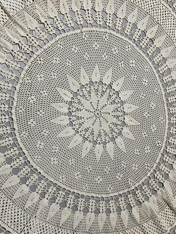 Кръгла плетена покривка за маса на една кука Нова