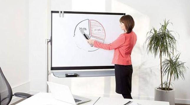 Маркерно-магнитная меловая доска для офисов, дома,  учебных заведений.