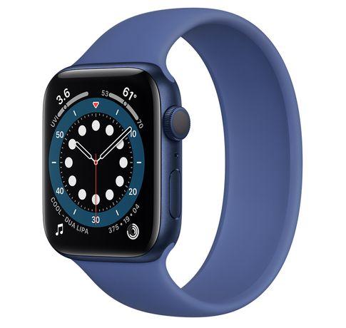 Apple watch series 6, размер 44 mm синего цвета