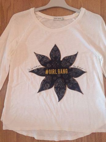 Tricou bluza BERSHKA cu imprimeu mas S/M NOUA