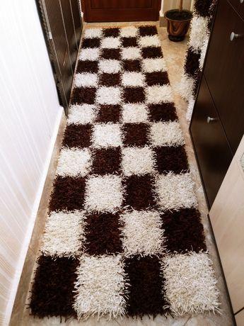 Пътека тип шаги кафяво и бяло