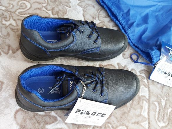 продавам НОРВЕЖКИ обувки за безопасност NJORD с метални бомбета описа