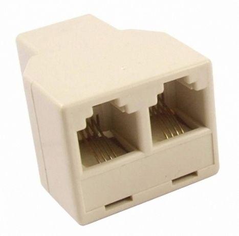 Продам RJ11 4 Pins до 2 Телефон Splitter Разъем Адаптера
