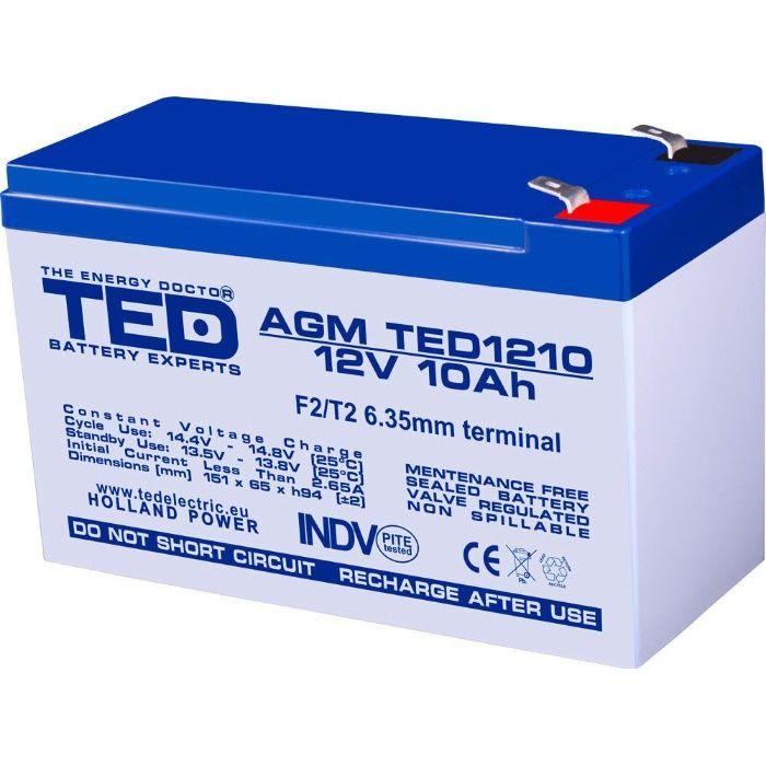 acumulator ups 12V 10AH acumulator 12V 10AH ups baterie 12V 10A ups Bucuresti - imagine 1
