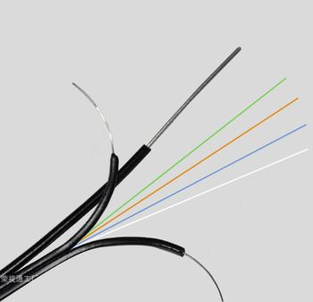 Fibra optica 4 fire ftth cu sufa de otel pentru exterior
