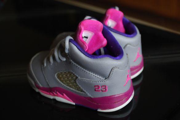 Nike Air Jordan 5 V Retro Cement Grey Pink детски обувки кецове