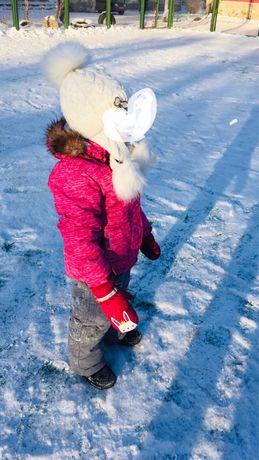 Зимний костюм для девочки 3-4 года