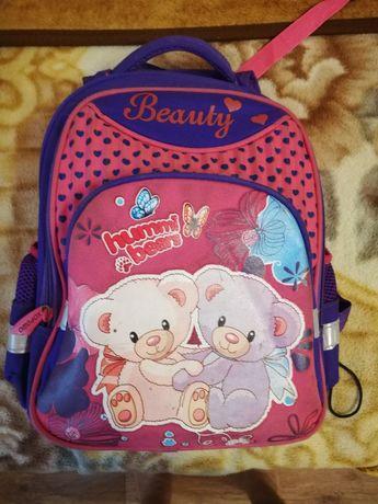Рюкзак ортопедический мишка, портфель для девочки в школу