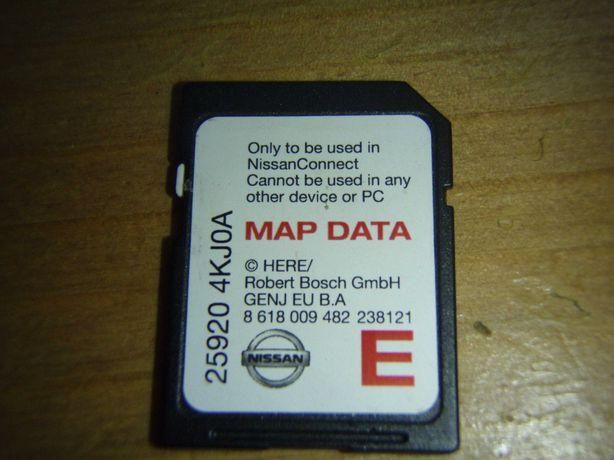 Card SD cu harta Europei Nissan Connect 3 25920-4KJ0A