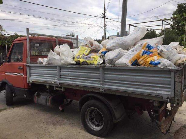 Transport moloz mobila nisip pamant debarasari demolari miniexcavator