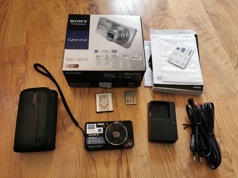 Фотоапарат Sony Cyber-Shot 16,1 Mega Pixels DSC-W570 гр. Ямбол - image 1
