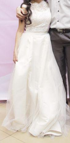 Платье 2 в 1 (на кыз узату или свадьбу) с шубой